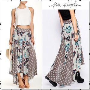 Free People Show You Off Boho Maxi Skirt Soft Mint